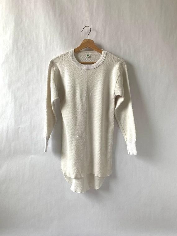 Hanes Thermal Shirt Green Tag