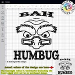 SVG, Bah Humbug, Christmas, Original Artwork, Scrooge, Grinchy, Cut File, Clip Art, Line Art, Template