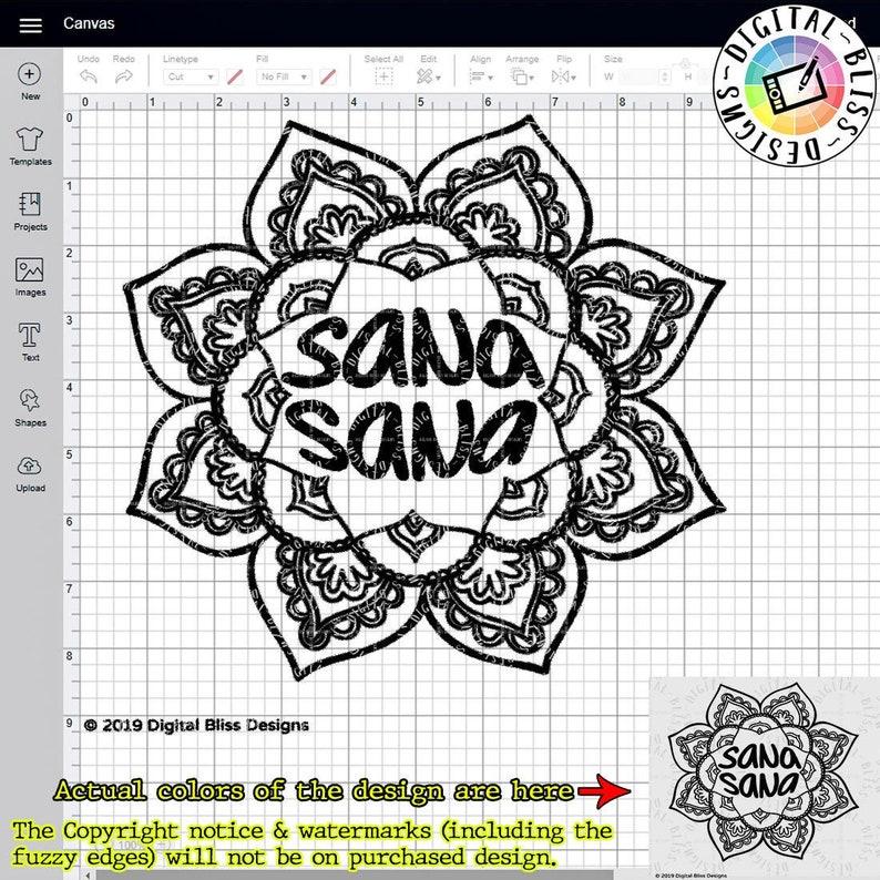 SVG Sana Sana Cut File Clip Art Line Art Template image 0