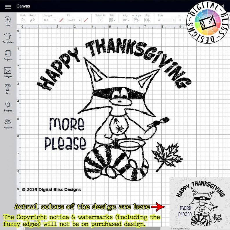 SVG Ronnie the Raccoon Thanksgiving Original Artwork Cut image 0