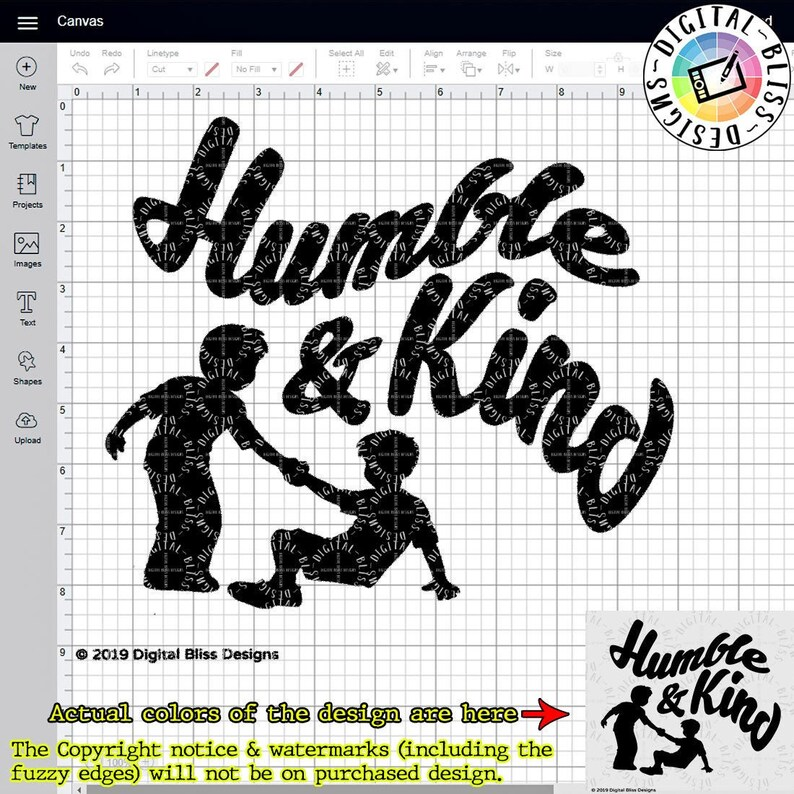 SVG Humble and Kind Help One Another Cut File Clip Art image 0