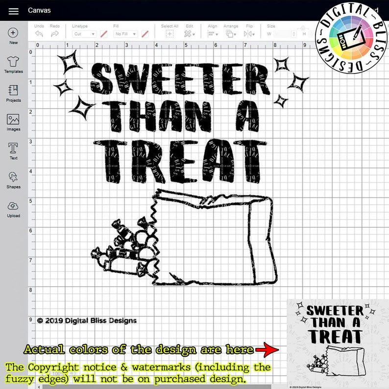 SVG Sweeter Than a Treat Trick or Treat Halloween Cut image 0