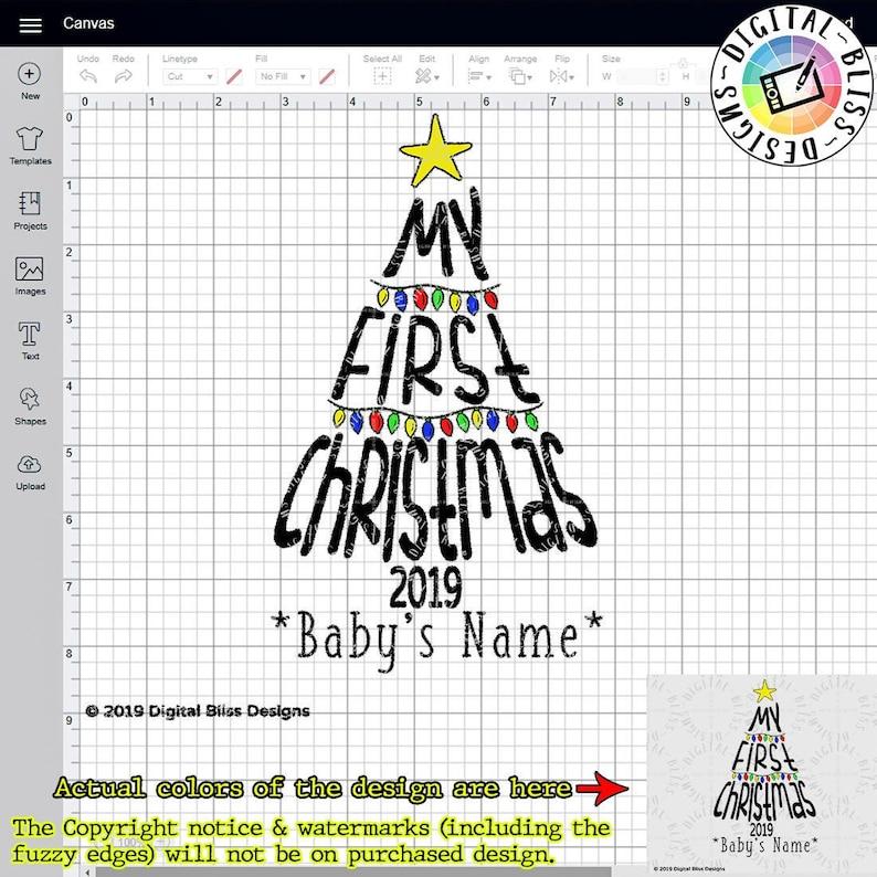 Custom SVG My First Christmas Baby's First Christmas image 0