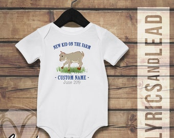 e2c7a10ee New Kid on the Farm. Country Onesie®. Little Farmer. Goats and Farmlife.  Little Cowboy. Little Cowgirl. Going Home Outfit.