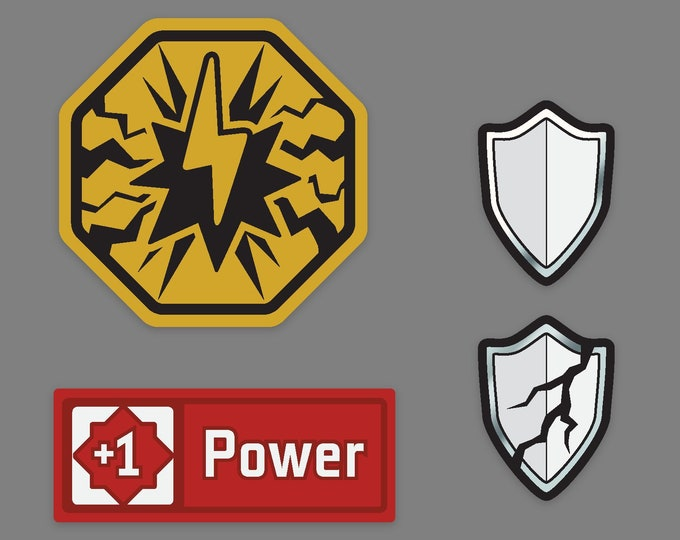 KeyForge Premium Set of Stun, Armor, and Power tokens. [Pre-Order]