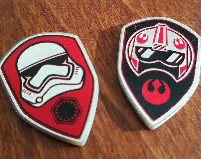 Star Wars Destiny Compatible Shields, Dual sided Hero and Villain, Fan Made
