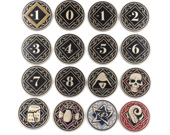 Arkham Horror LCG Chaos Tokens - Full Core Pack | Fan-Made Compatibles from Aurbits