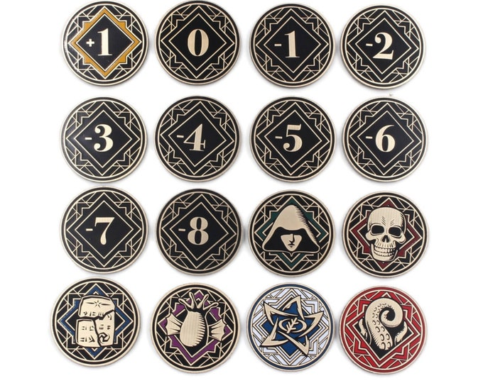 Pre-Order | Arkham Horror LCG Chaos Tokens - Full Core Pack | Fan-Made Compatibles from Aurbits for the Mythos