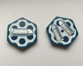 Arkham Horror Ammo Tokens for Guardian/Rouge, Dual Sided, Fan Made.
