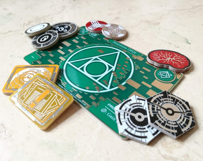 Premium Core Set Fiberglass Tokens, Fan-Made Compatible with Netrunner (+Free Gift if purchased on Aurbits - Limited Quantity)