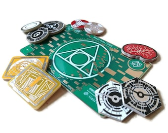 Pre Order - Netrunner Premium Core Set of Tokens | Fan-Made Compatibles from Aurbits