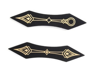 Gold Plated Path Markers, Compatible with Arkham Horror - Fiberglass