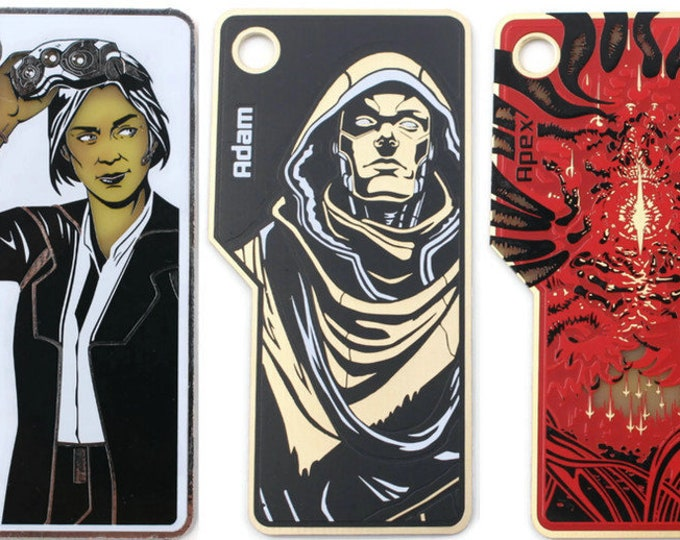 Netrunner Mini-Faction KeyChains | Fan-Made Compatibles from Aurbits - Sunny, Adam, and Apex