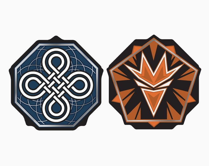 KeyForge Worlds Collide Compatible Ward and Enrage Tokens, Fan-Made [PRE-ORDERS]