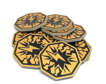 Stun Tokens, Fan-Made, Compatible with KeyForge