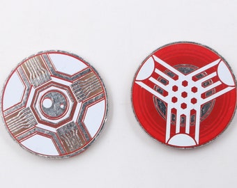 Virus (Stun) / Power Tokens Set. Compatible with Android: Netrunner and KeyForge