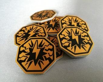 10 x KeyForge Compatible Stun tokens
