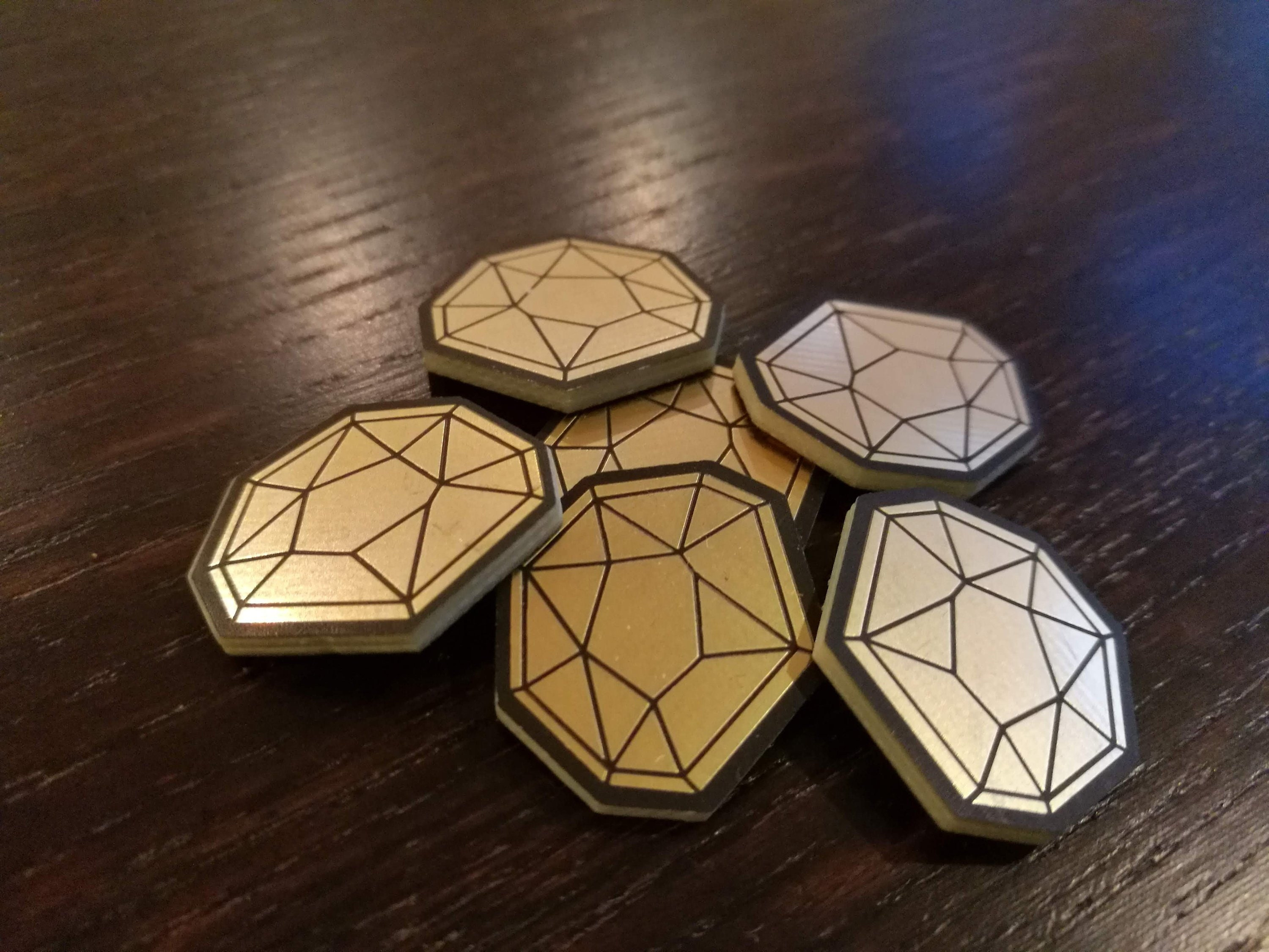 AEmber, Fan-Made Tokens Compatible with KeyForge  Gold plated Æmber