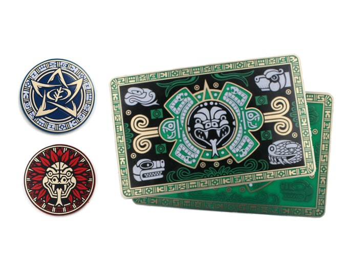 The Forgotten Age Fan-Made Plaque/Wallet and Chaos Token Promo Pack | Fan-Made Compatibles from Aurbits for the Mythos