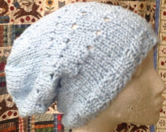 100% Organic Cotton Knitted Slouchy Hat