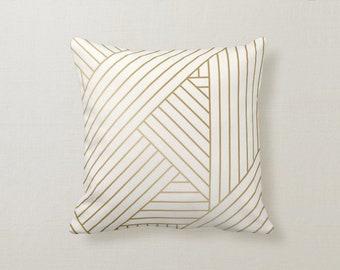 Geometric Upholstery Fabric By The Yard Custom Drapery Panels Cream Gold Custom Throw Pillows Window Treatments Mingle Spa