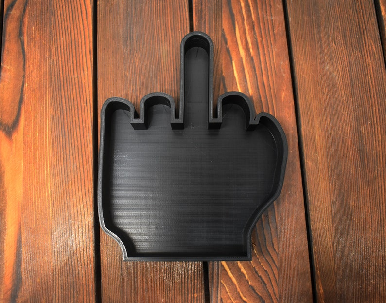 Middle Finger Cookie Cutter image 0