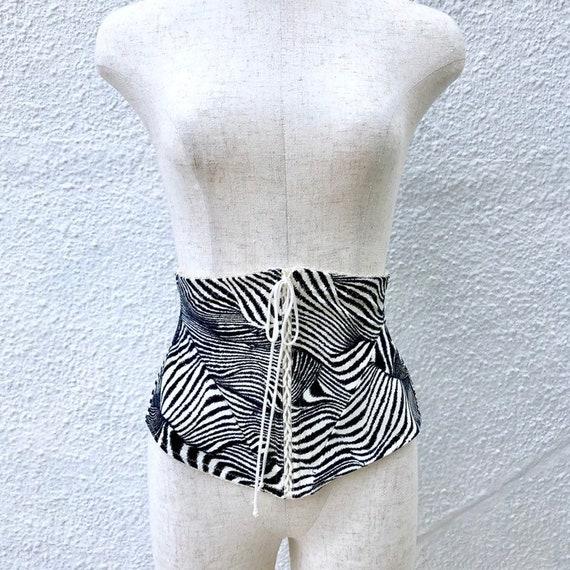 MILLESIA Zebra Lace Up Corset - image 2