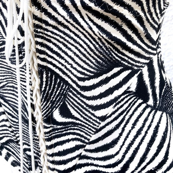 MILLESIA Zebra Lace Up Corset - image 4