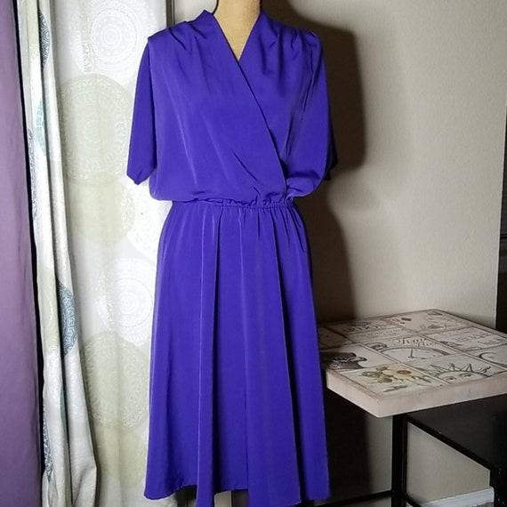 Stunning Serbin Blue Vintage Midi Dress
