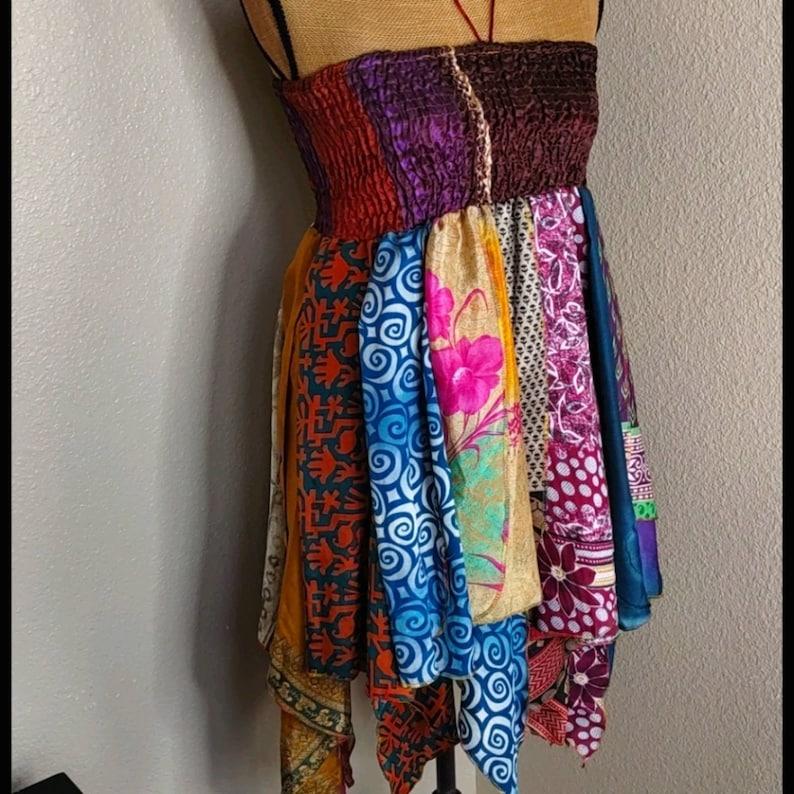 Siddhartha Halter Stretchy Colorful Boho Dress