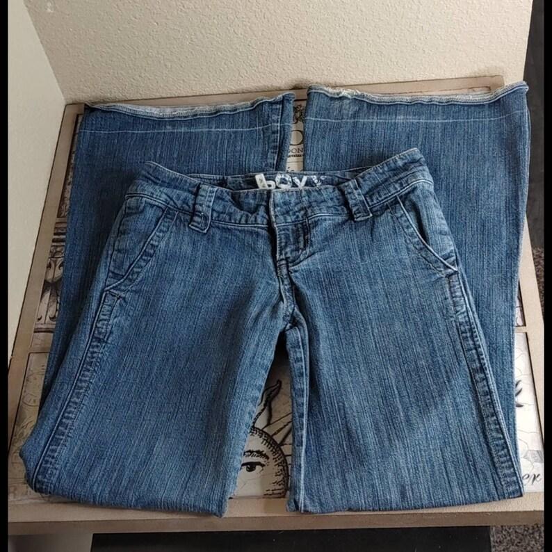 Roxy Med Wash Low Rise Wide Leg Fit Jeans
