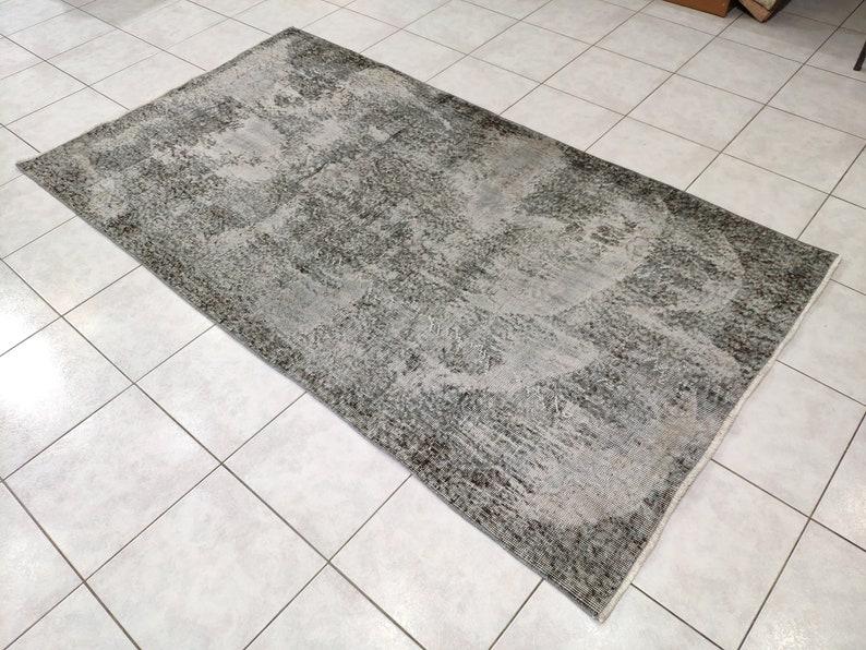 Turkish Rugs Over dyed rug Area rug 3,84 X 6,99 feet special work Oushak Rugs Beige rugs Turkish Large rug Antique rug Vintage Rugs