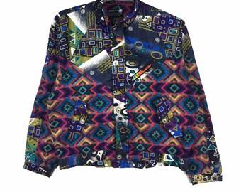 Navajo fleece jacket | Etsy