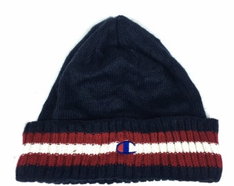 dedc66cf8f7 Vintage Champion beanie winter hat free adult size