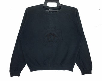61ab83cf0187 Versace Jeans Couture Medusa Big Logo Embroidery Sweatshirt Pullover
