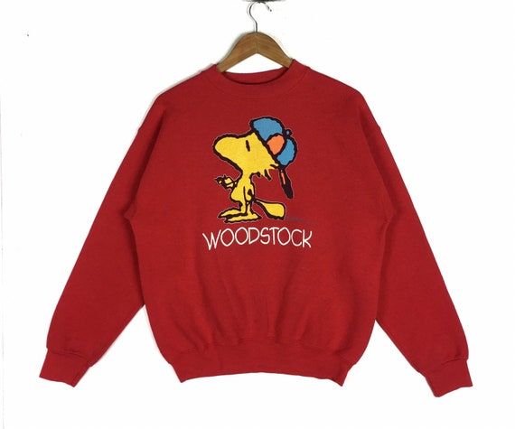 Vintage 80s Snoopy Woodstock Sweatshirt L size