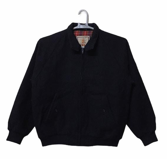 Vintage Baracuta Wool Harrington Jacket black colo