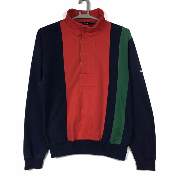 Vintage NAUTICA Sailing Sweatshirt Colour Blocks