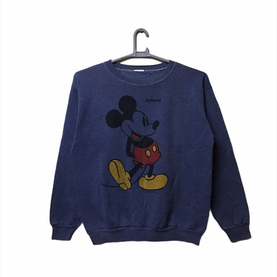 Vintage Mickey Mouse Yellow Shoes sweatshirt Purpl