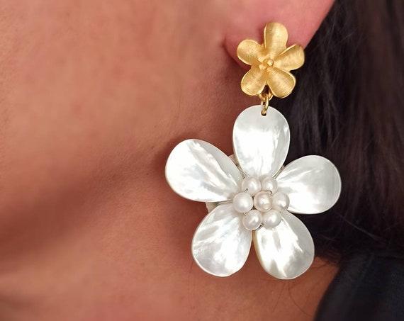 Statement Flower Earrings