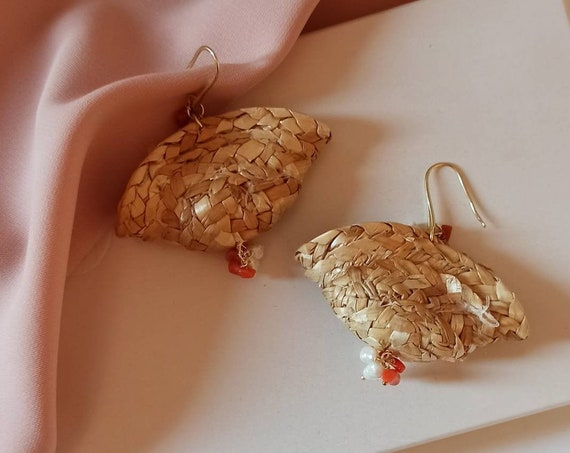 Sicilian Coffe Bag Earrings