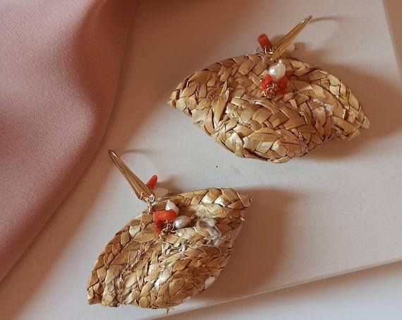 Sicilian Coffe Bag Earrings