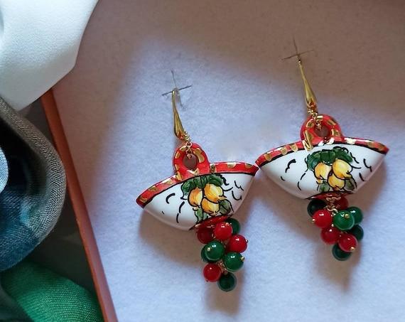 925 Sicily Coffe Bag Earrings