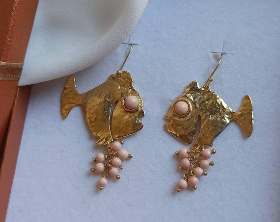 Brass Fish Earrings