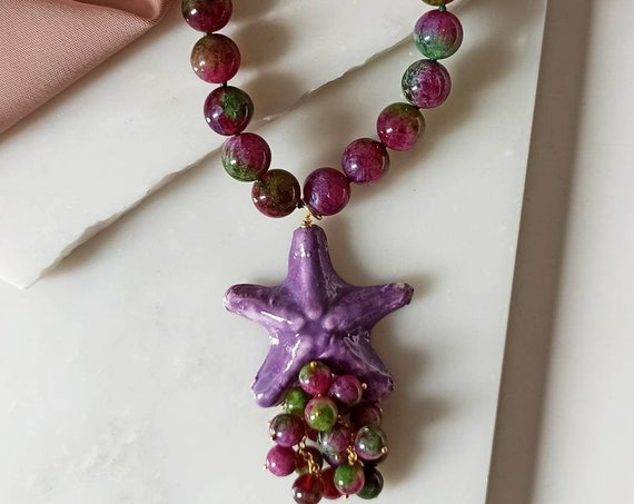 Sicily Ceramic Starfish Necklace