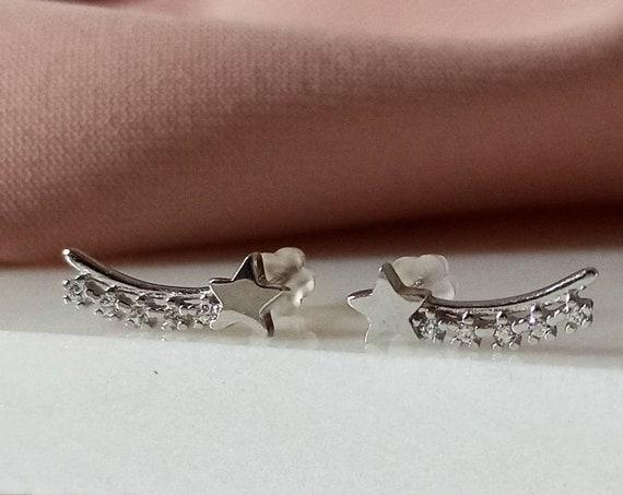Ear cuff star earrings