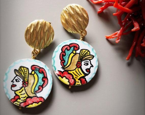 Sicily ceramic earrings