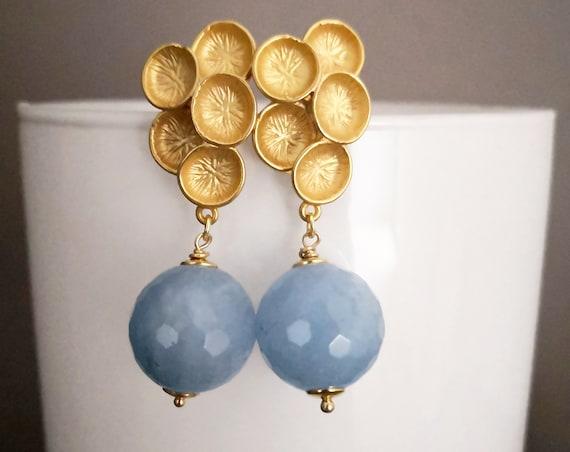 Natural Angelite earrings