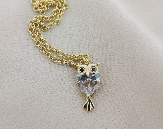 Lucky Owl pendant necklace