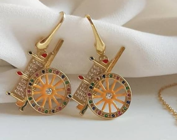 925 Sicilian Cart Earrings